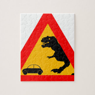 Warning Tyrannosaurus Rex Jigsaw Puzzle