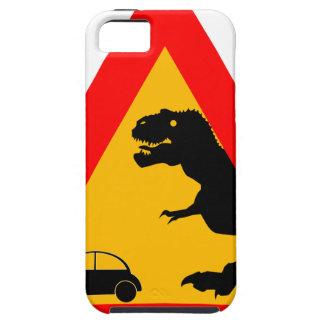 Warning Tyrannosaurus Rex Tough iPhone 5 Case