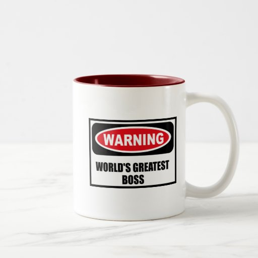 Warning WORLD'S GREATEST BOSS Mug