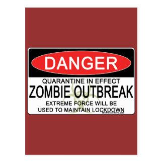 Warning - Zombie Outbreak Postcard