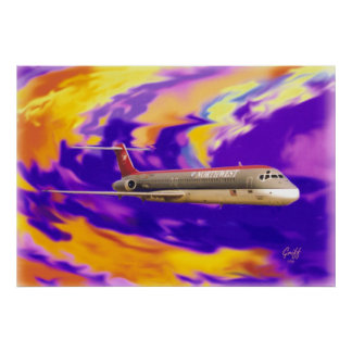 Warp 7 DC-9 Poster