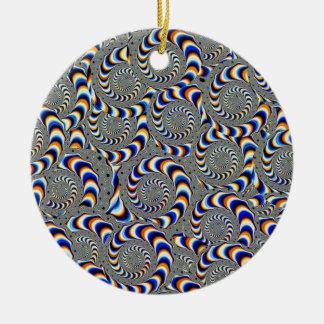 warp ceramic ornament