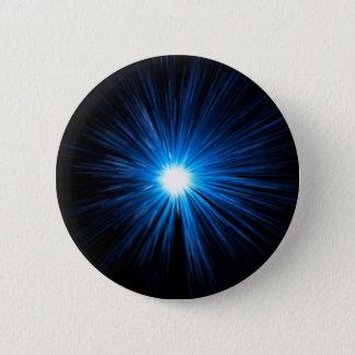 Warp speed blue. 6 cm round badge