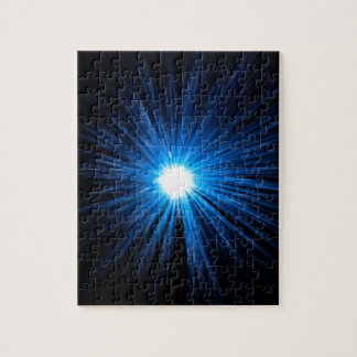 Warp speed blue. jigsaw puzzle