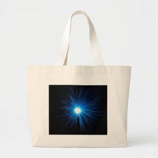 Warp speed blue. large tote bag
