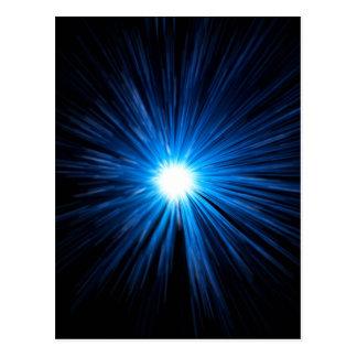 Warp speed blue. postcard