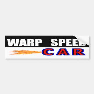 Warp Speed Car Bumper Sticker