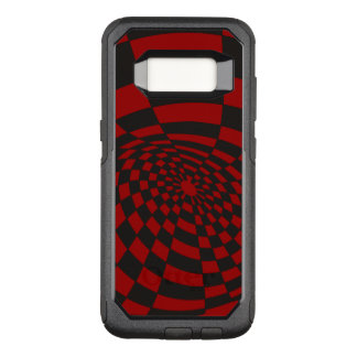 Warped Crimson Checkerboard OtterBox Commuter Samsung Galaxy S8 Case
