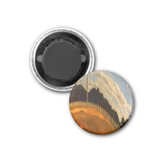 Warped Landscape Fridge Magnet