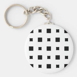 Warped squares design key ring