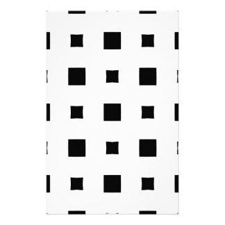 Warped squares design stationery