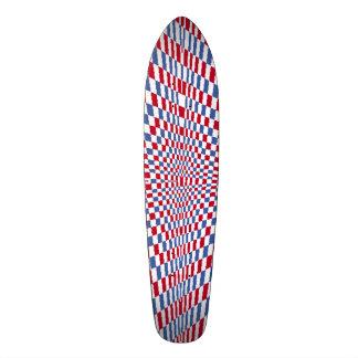 Warping square stylish pattern skate board