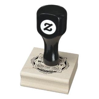 warranty 11 days black rubber stamp