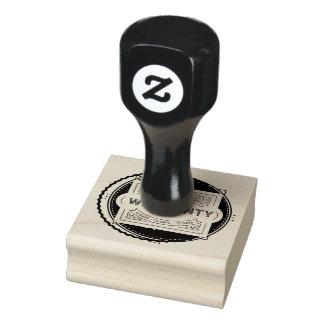 warranty 13 days black rubber stamp