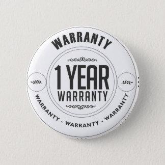 warranty 1 year 6 cm round badge