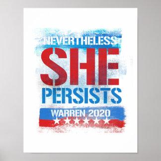 Warren 2020 - Nevertheless she persists --  Poster