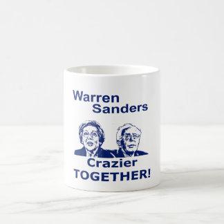 Warren and Sanders Crazier Together Coffee Mug