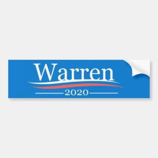 Warren for President, 2020, classic Bernie blue Bumper Sticker