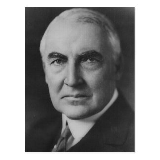 Warren G. Harding 29th President Postcard