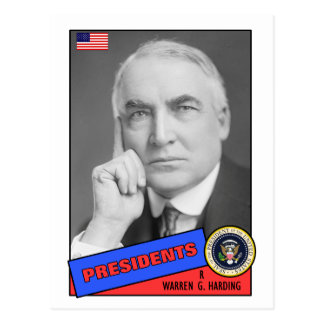 Warren G. Harding Baseball Card Postcard