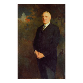 WARREN G. HARDING Portrait by Edmund Hodgson Smart Poster