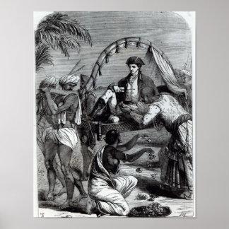 Warren Hastings  in India in 1784 Poster