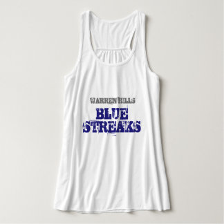Warren Hills, Blue Streaks Cute Tank Top