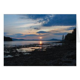 Warren Island Sunset notecard - 2