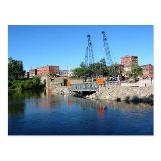 Warren, PA's Hickory Street Bridge Construction  P Postcard