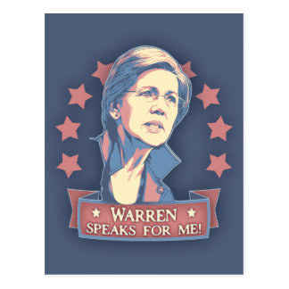 Warren Speaks For Me Postcard