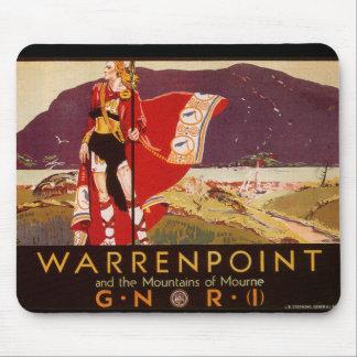 Warrenpoint Irish Railway Poster Mouse Pad