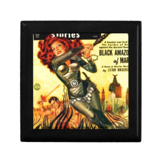 Warrier Maiden on Mars Small Square Gift Box