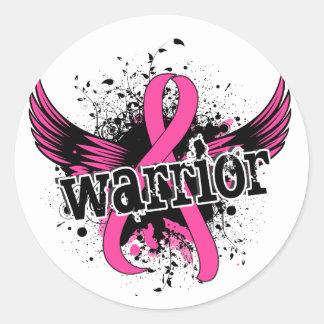 Warrior 16 Breast Cancer Classic Round Sticker
