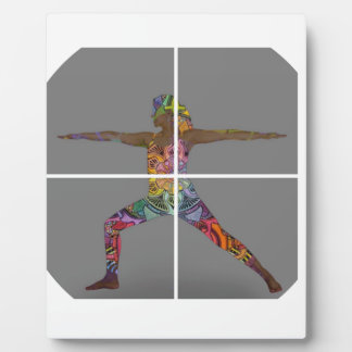 Warrior 2 Yoga Pose Series Plaque
