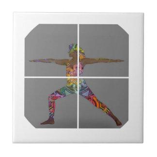 Warrior 2 Yoga Pose Series Tile