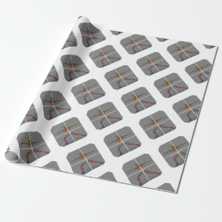 Warrior 2 Yoga Pose Series Wrapping Paper