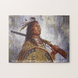 Warrior and His Winchester, Native American puzzle