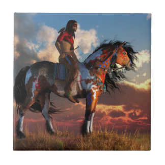 Warrior and War Horse Tile