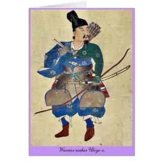 Warrior archer Ukiyo-e. Card