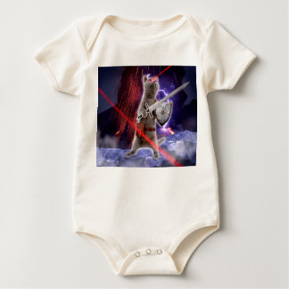 warrior cats - knight cat - cat laser baby bodysuit