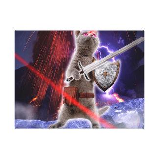 warrior cats - knight cat - cat laser canvas print