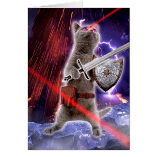 warrior cats - knight cat - cat laser card