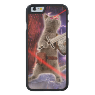warrior cats - knight cat - cat laser carved maple iPhone 6 case