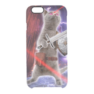 warrior cats - knight cat - cat laser clear iPhone 6/6S case