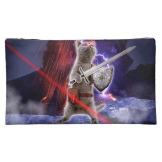 warrior cats - knight cat - cat laser cosmetic bag