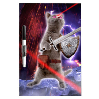 warrior cats - knight cat - cat laser dry erase board
