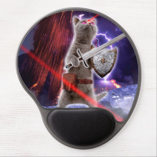 warrior cats - knight cat - cat laser gel mouse pad