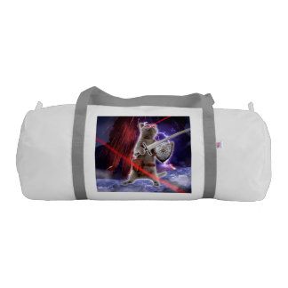 warrior cats - knight cat - cat laser gym duffel bag
