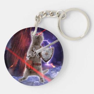 warrior cats - knight cat - cat laser key ring