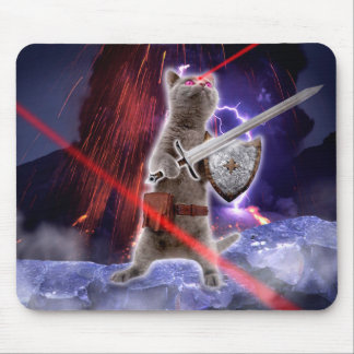 warrior cats - knight cat - cat laser mouse pad